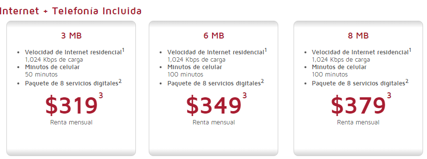 Planes maxcom internet